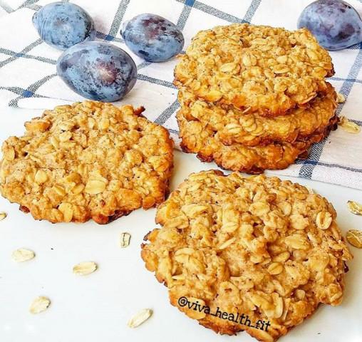 ПП-овсяно-арахисовые печеньки