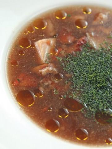 Суп из белых грибов с гречневой крупой