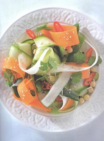 Салат из овощной «лапши»