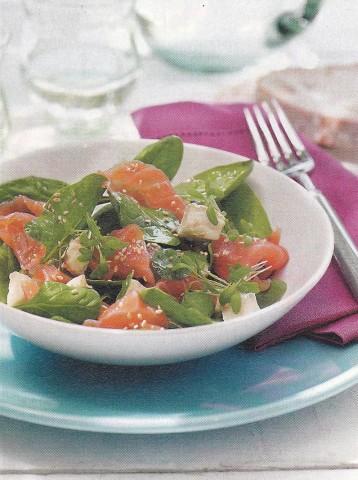 Новогодний салат с семгой и апельсинами
