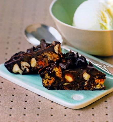 Шоколадные батончики с орехами