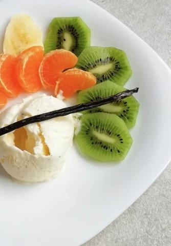 Домашний пломбир с ванилью