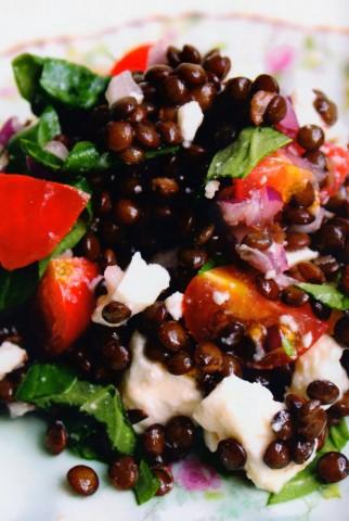 Салат из чечевицы и феты