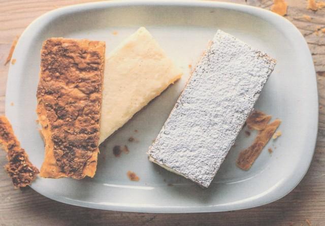 Слоеное пирожное с жасминовым кремом