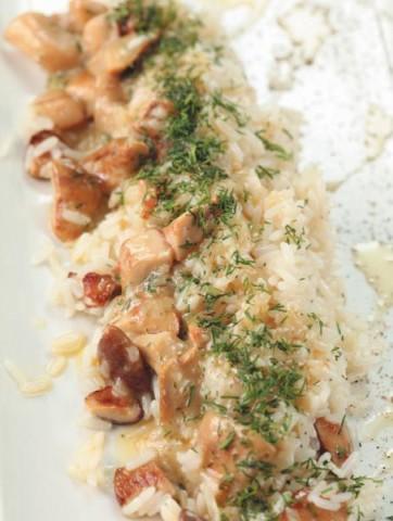 Рис с грибным соусом