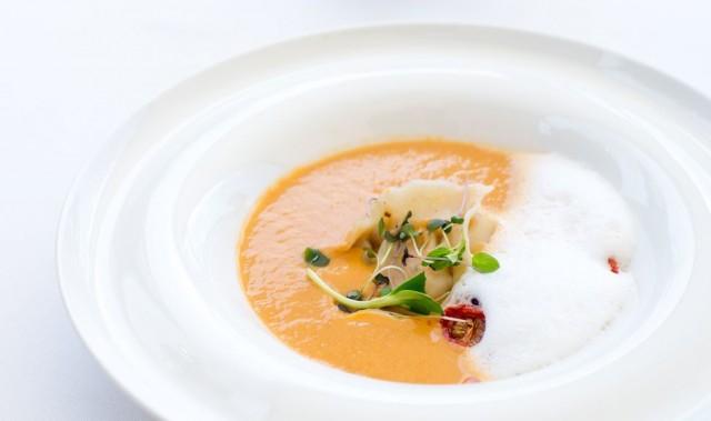 Суп-пюре из раков с рисом (масляный)