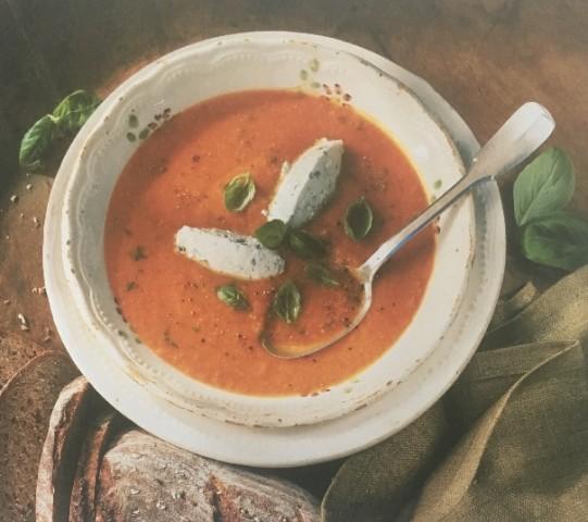 Суп из томатов с красной чечевицей