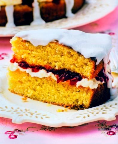 """Бисквитный торт """"Виктория"""""""
