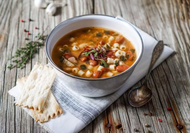 Суп итальянский с макаронами