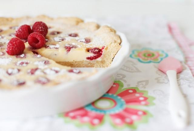 Пирог с белым шоколадом и орехами
