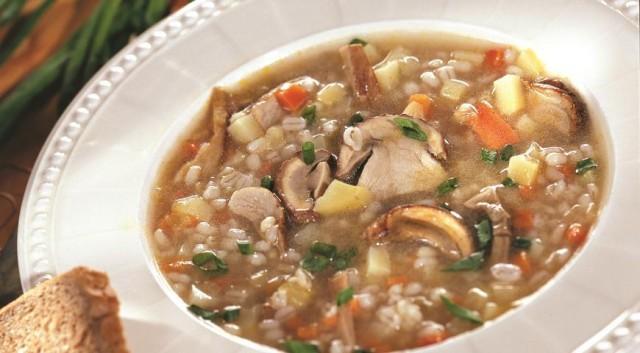 Суп из грибов с перловой крупой