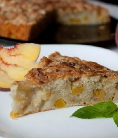 Персиковый пирог с хересом