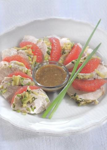 Куриное филе с кунжутным соусом
