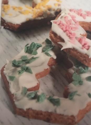 Новогоднее имбирное пряничное печенье