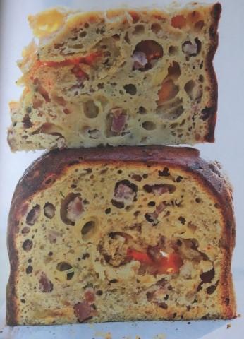 Сырно-ветчинный кекс