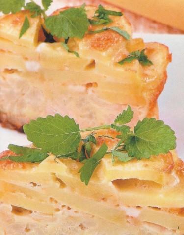 Цветная капуста, запеченная с картофелем