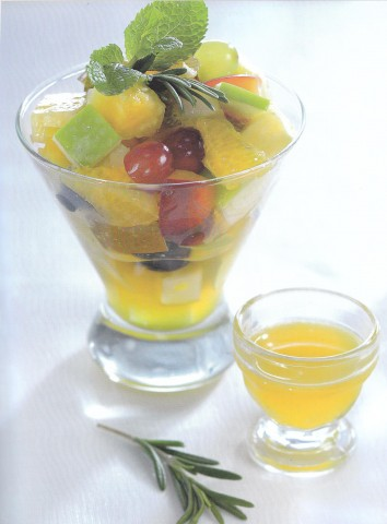 Горячий фруктовый салат