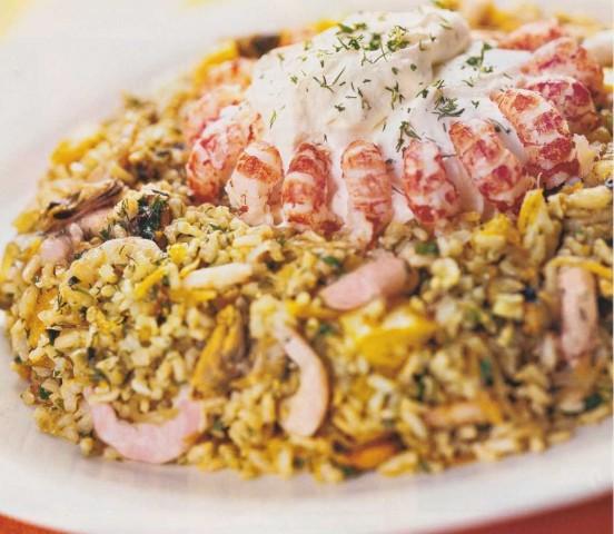 Кольцо рисовое с морепродуктами №1