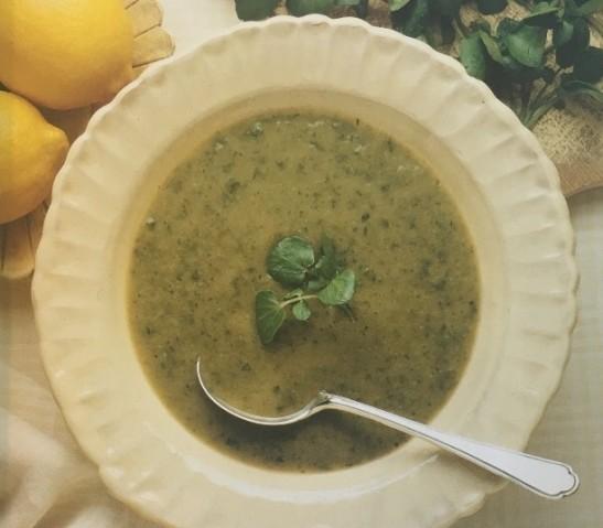 Суп из кабачков и кресс-салата