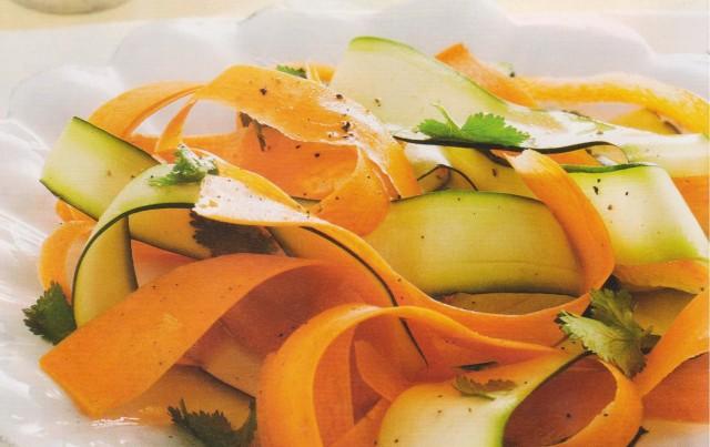 Карпаччо из цукини с морковью