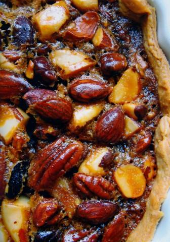 Сладкий пирог с орехами
