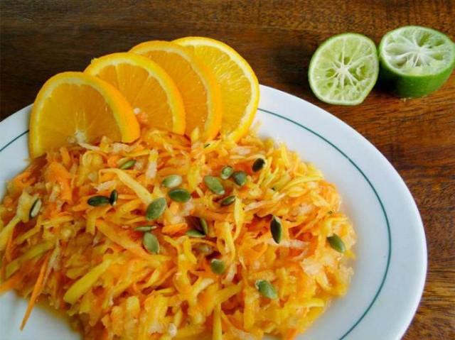 Салат из моркови с тыквой