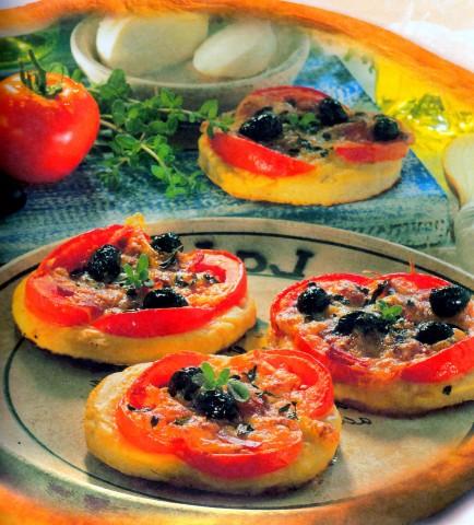 Пицца в форме оладий
