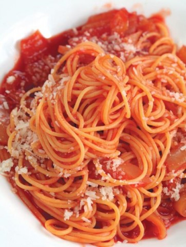 Спагетти с лечо