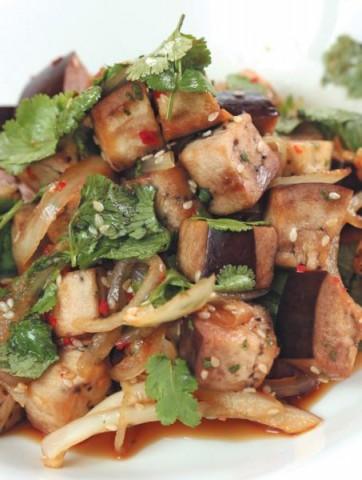 Салат из баклажанов по-азиатски