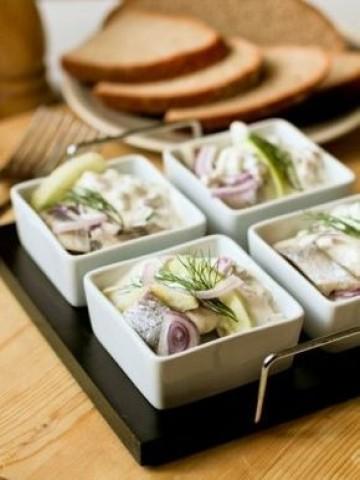 Салат из сельди по-норвежски