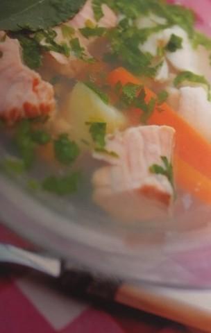 Легкий рыбный суп