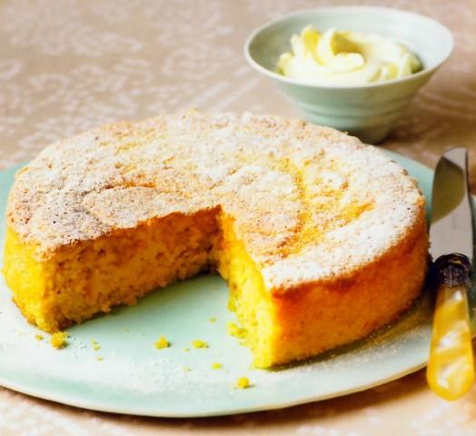 Пирог с миндалем и апельсинами