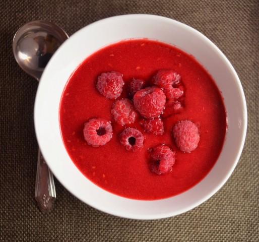 Суп из сушеной малины