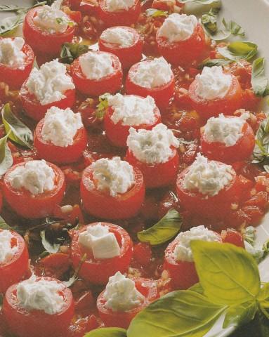 Фаршированные коктейльные томаты