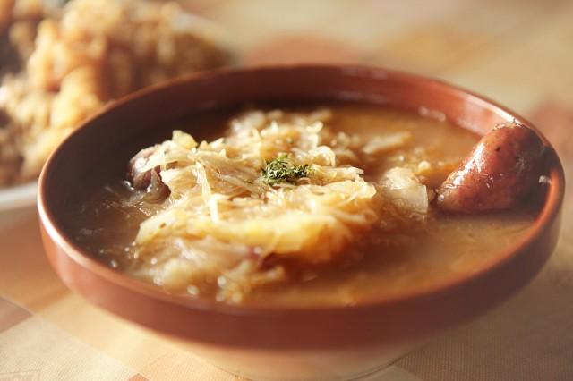 Суп со снетками и кислой капустой