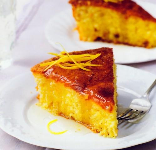 Пирог с лимонным сиропом