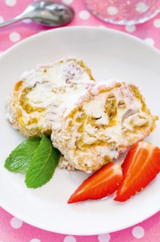Творожные печенья с сушеной полоникой