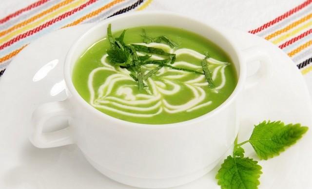 Суп из свежей зеленой фасоли со сливками