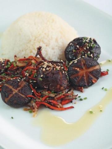 Рис басмати с шиитаке в соусе терияки