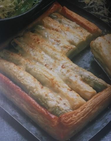 Сырный пирог с луком-пореем