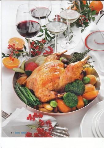 Рождественская индейка с овощами