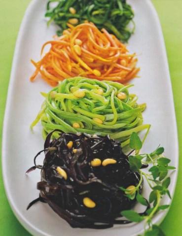 Спагетти цветные из овощей