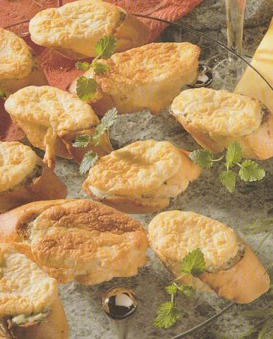 Гренки с сырным суфле