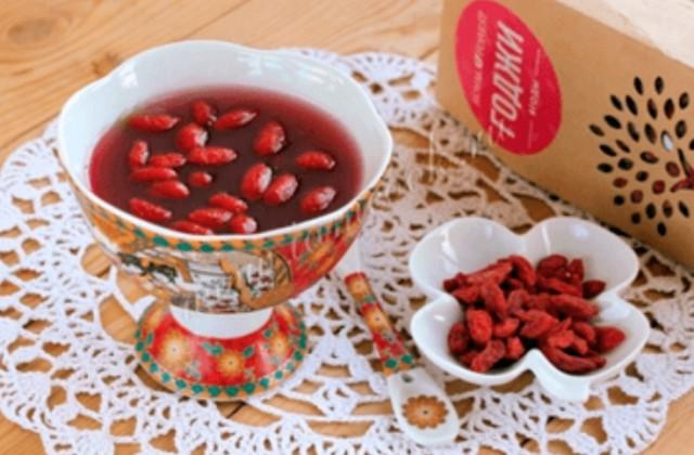 Желе красное с ягодами годжи