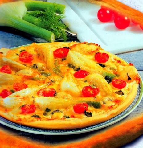 Сытная пицца с фенхелем