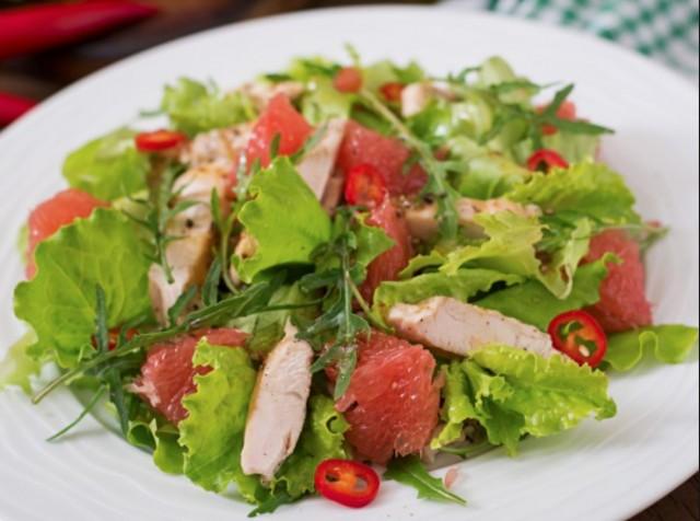 Салат с грейпфрутом