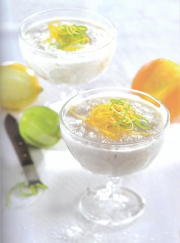 Лимонно-йогуртовый десерт