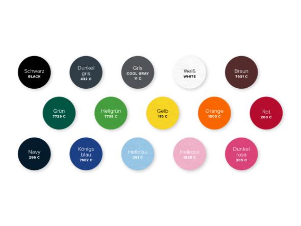 Anleitung und Farbe des Fleecematerials