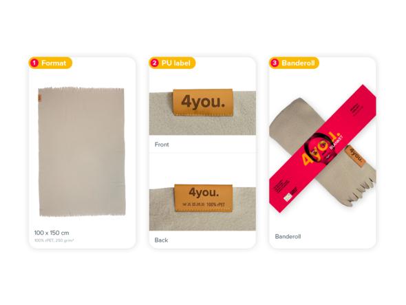 Size, PU label & banderole