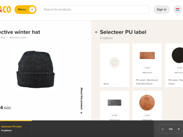 Do you want to order a hat with a PU label?